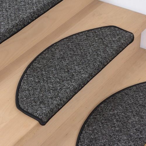 Covorase scari Rustic, negru, 64x24x4 cm