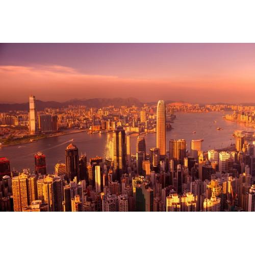Apusul in Hong Kong - fototapet vlies