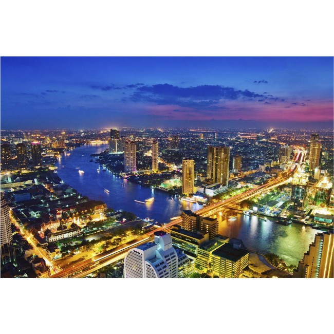 Bangkok, noaptea - fototapet vlies