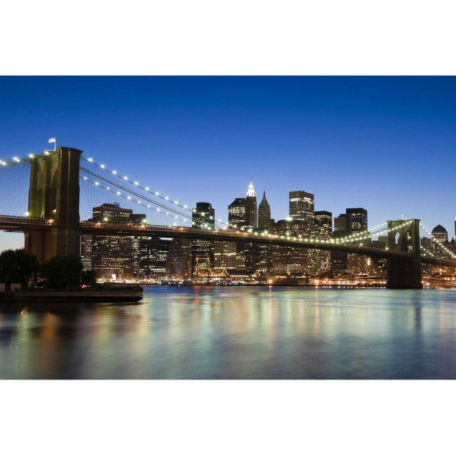 Brooklyn Bridge in New York - fototapet vlies