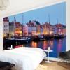Copenhaga in noapte - fototapet vlies
