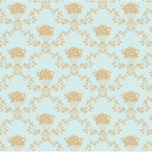 Cos de flori turcoaz - fototapet vlies