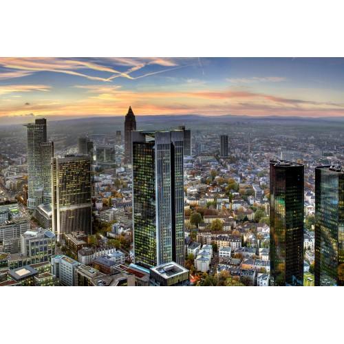 "Frankfurt in linia cerului ""Main-hattan""! - fototapet vlies"