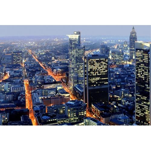 Frankfurt, noaptea - fototapet vlies