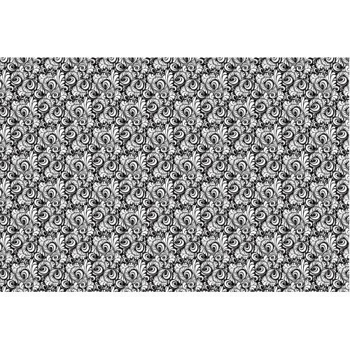 Frunze in alb si negru - fototapet vlies