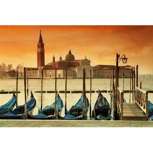 Gondole in Venetia - fototapet vlies