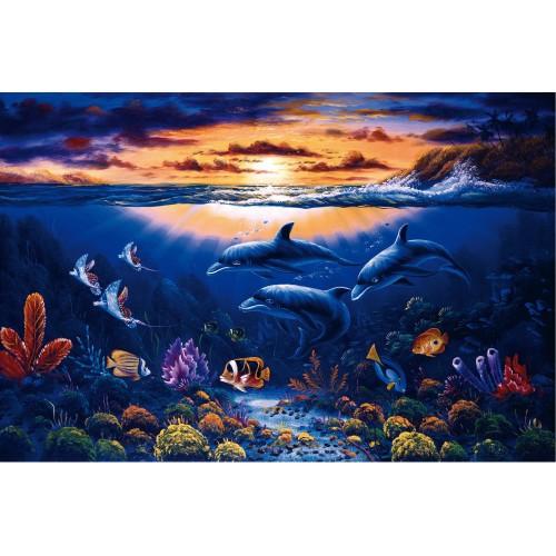 Lumea delfinilor - fototapet animale
