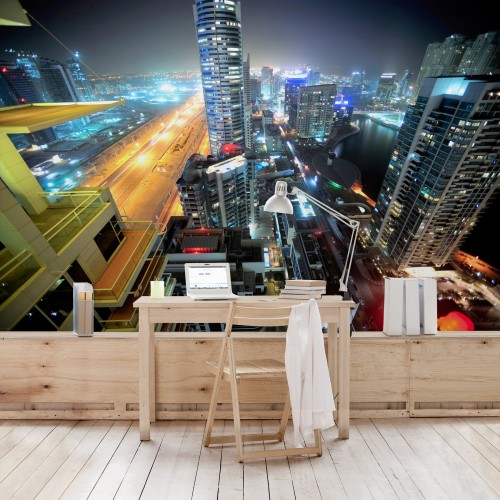 Luminitele din Dubai - fototapet vlies