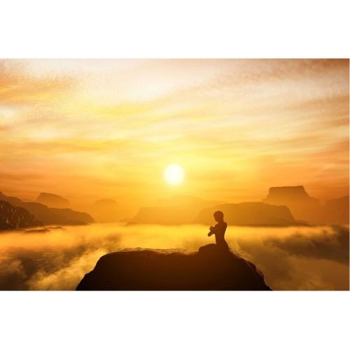 Meditatie yoga - fototapet vlies