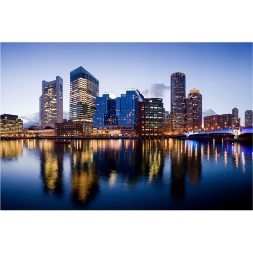 Noapte buna, Boston! - fototapet vlies