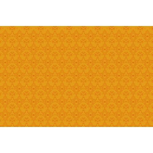 Ornament decor orange - fototapet vlies