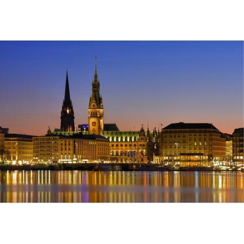Panorma Hamburg - fototapet vlies