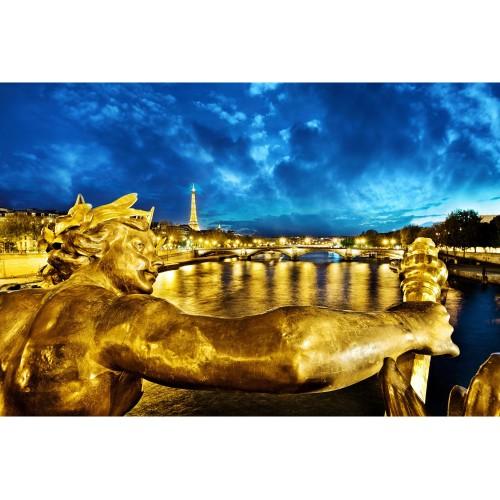 Parisul auriu - fototapet vlies
