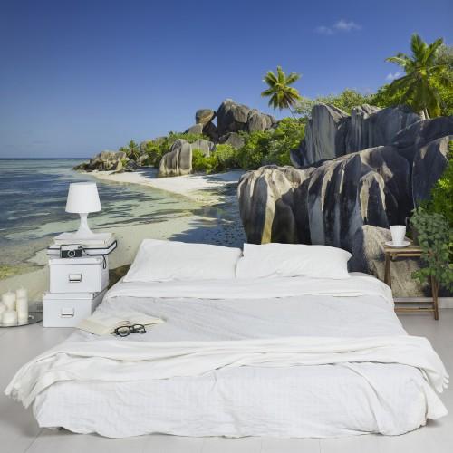 Plaja de vis din Insulele Seychelles - fototapet vlies