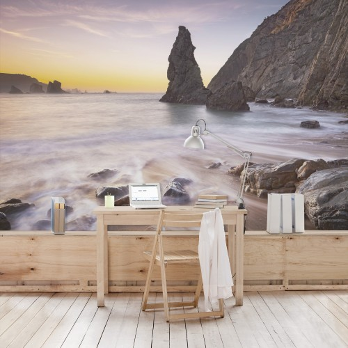 Plaja spaniola la rasarit - fototapet vlies