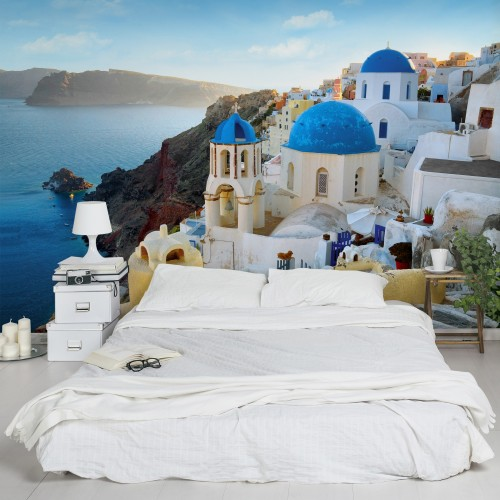 Santorini - fototapet vlies
