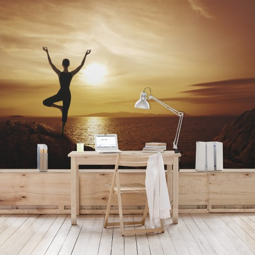 Yoga - fototapet vlies