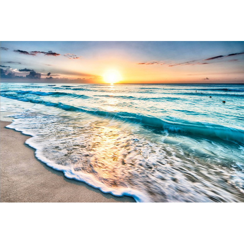 Apus de soare pe plajă - fototapet vlies