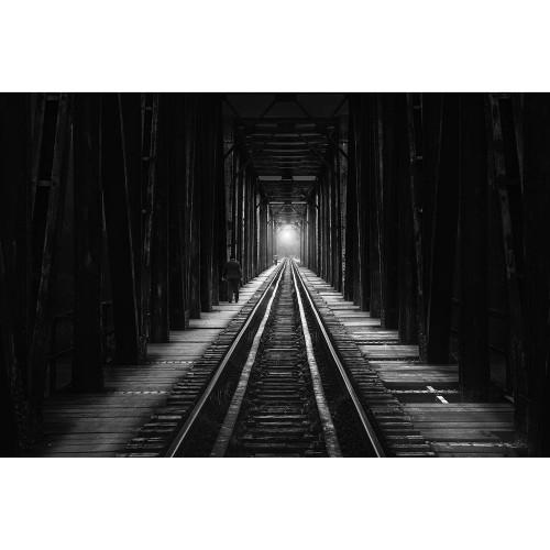 Cale ferată - fototapet vlies