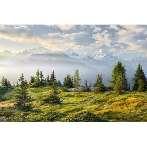 Cantonul Valais, Elveția - fototapet vlies