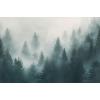 Conifere în ceață - fototapet vlies
