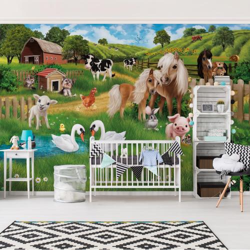 Ferma animalelor - fototapet copii