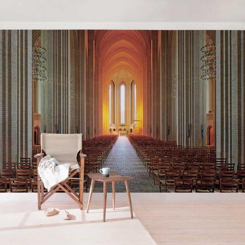 Biserica Grundtvig din Copenhaga - fototapet vlies