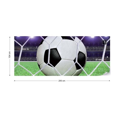Fototapet panoramic Minge fotbal 155VEP