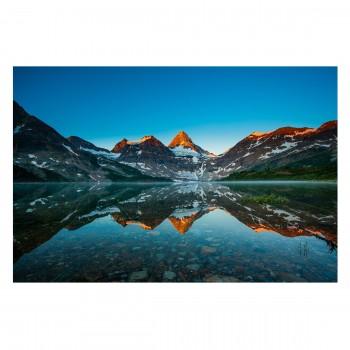 Fototapet vlies Peisaj de munte in Lacul Magog din Canada 201916