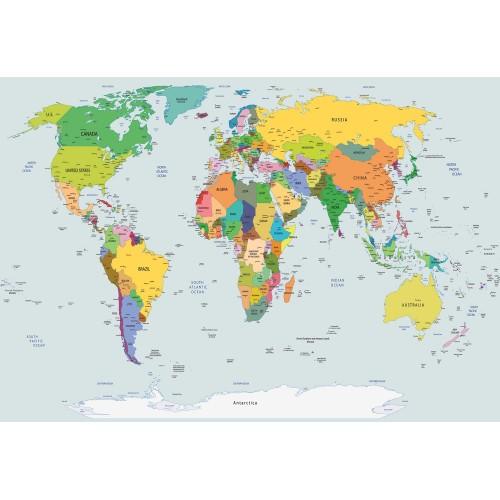 Fototapet vlies Harta lumii color 2644VE - L