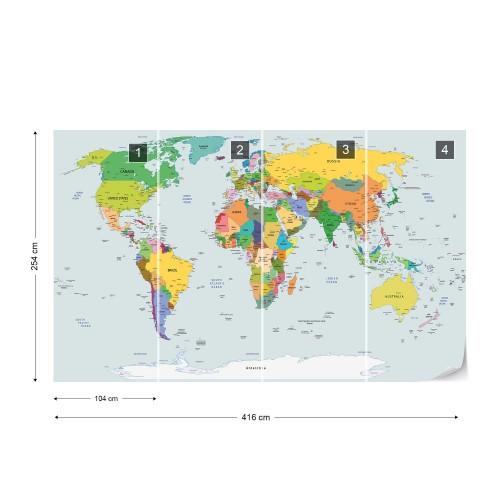 Fototapet harta lumii 2644VE - XXXL