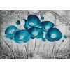 Fototapet vlies floral Maci albastri 2815