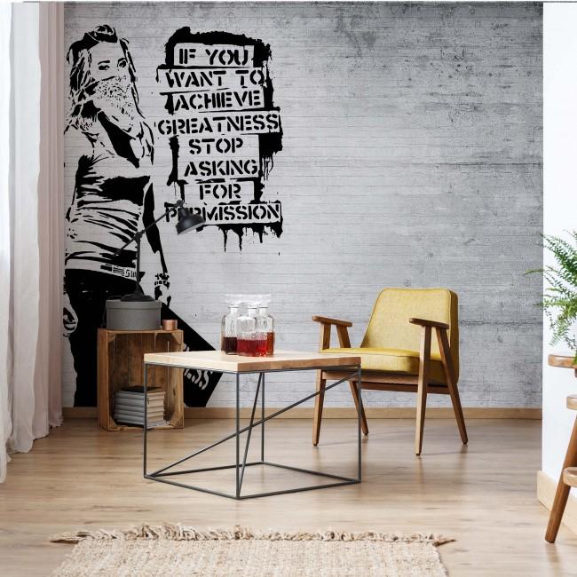 Fototapet design Graffiti alb-negru 2899VE