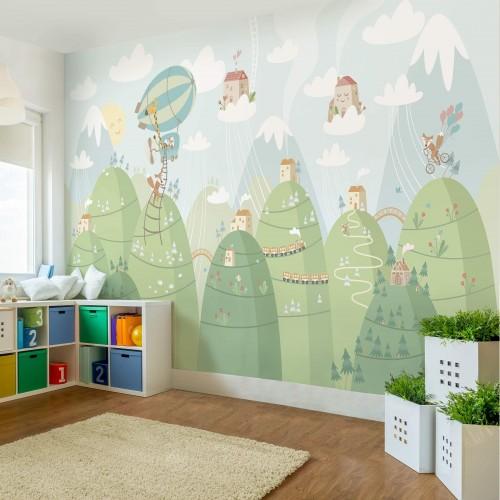 Fototapet copii Pădure și case 230068