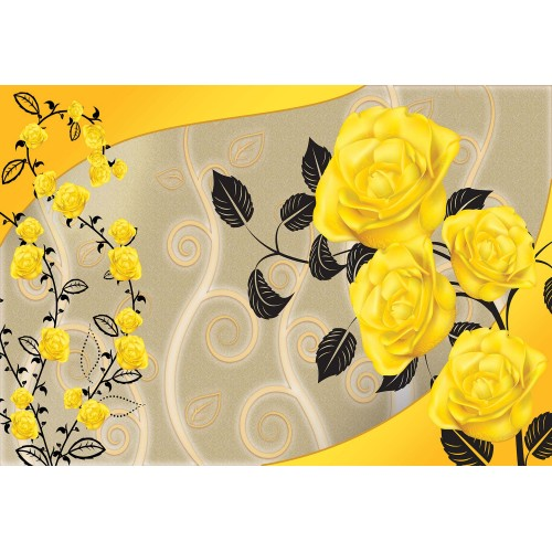 Fototapet floral Trandafiri vintage 1661VE
