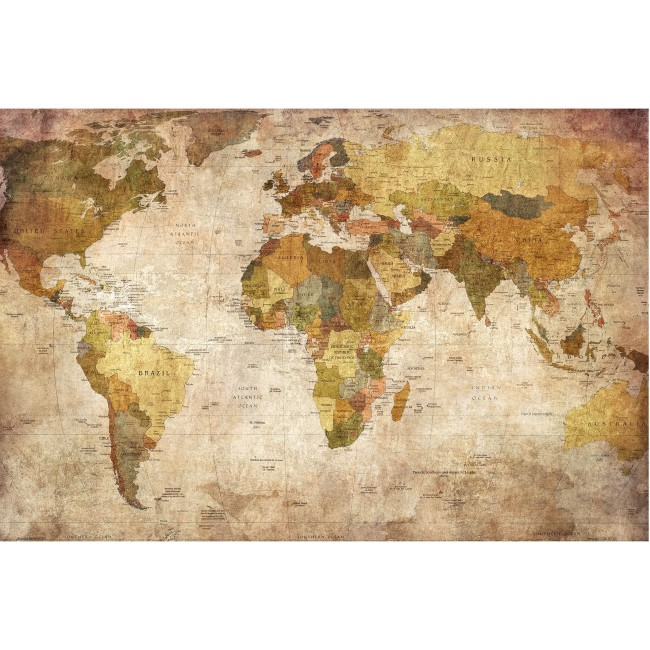 Harta lumii - fototapet vlies