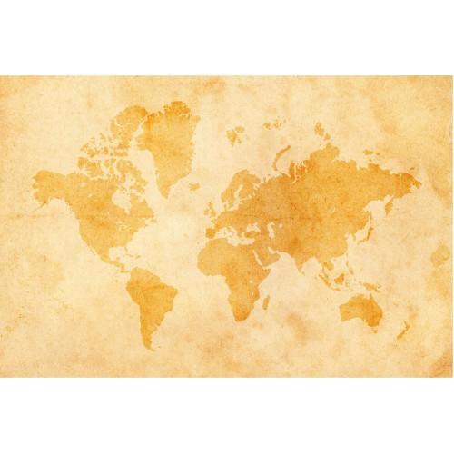 Harta lumii vintage - fototapet vlies