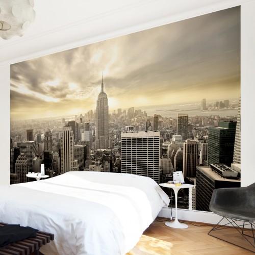 Manhattan la apus - fototapet vlies