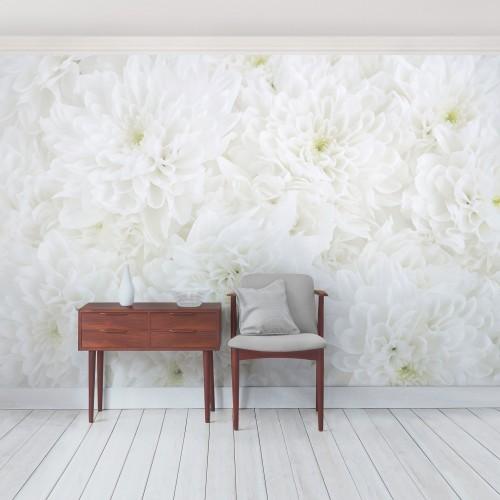 Marea oaza de flori albe - fototapet vlies