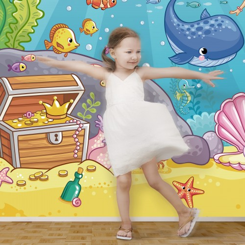 Micuta sirena - fototapet copii vlies