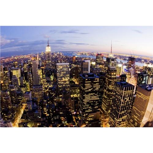 New York in miez de noapte - fototapet vlies