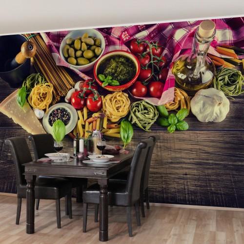 Fototapet bucătărie pasta italiana