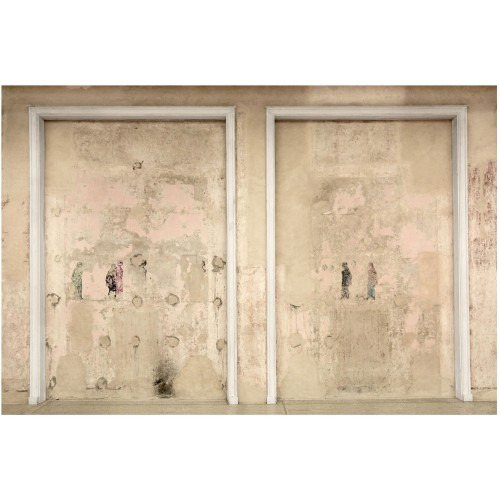 Rama din peretele din beton - fototapet vlies