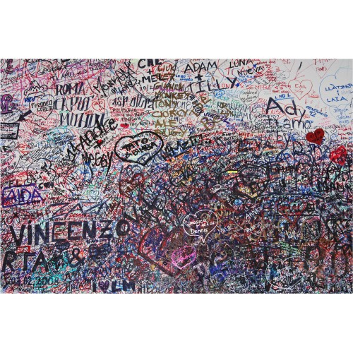 Romeo & Julieta in Graffiti - fototapet vlies