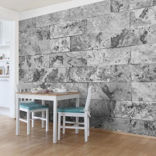 Zid din marmura gri naturala - fototapet vlies