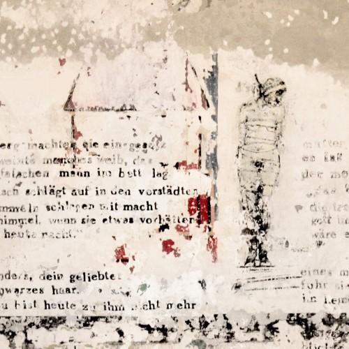 Zidul cu versuri - fototapet vlies