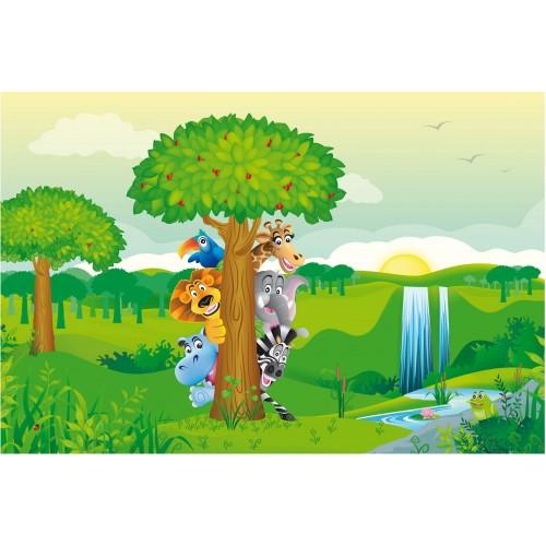 Animalele din junglă - fototapet copii