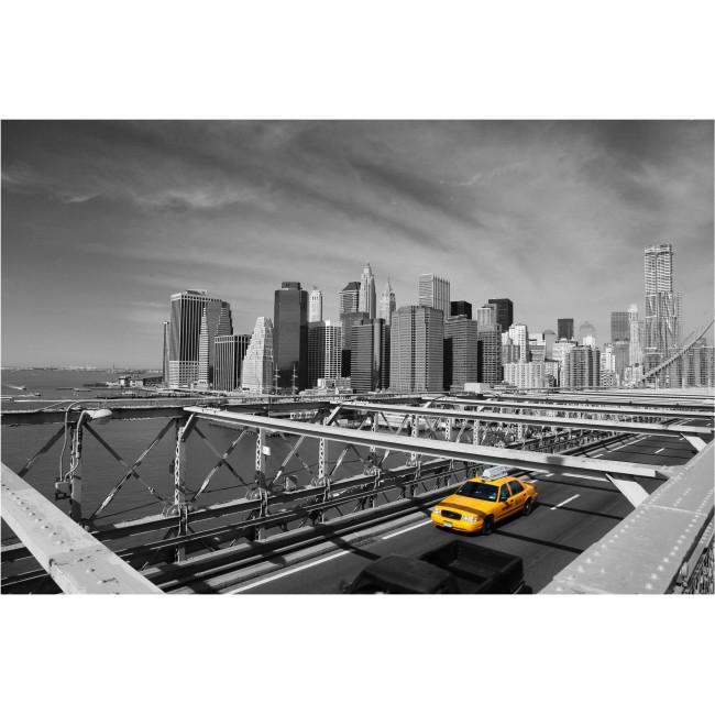 Calatorie cu taxi pe cealalta parte - fototapet vlies