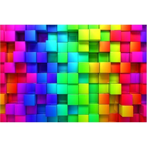 Fototapet cuburi 3D vibrante