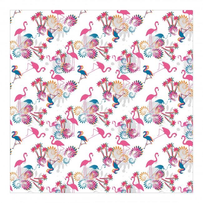 Dansul pasarilor flamingo - fototapet vlies